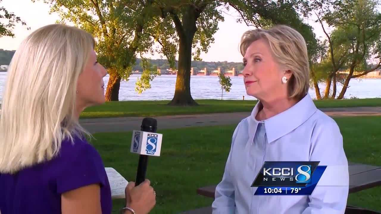 Hillary Clinton hit the campaign trail in the Quad Cities today where she addressed her economic plan.