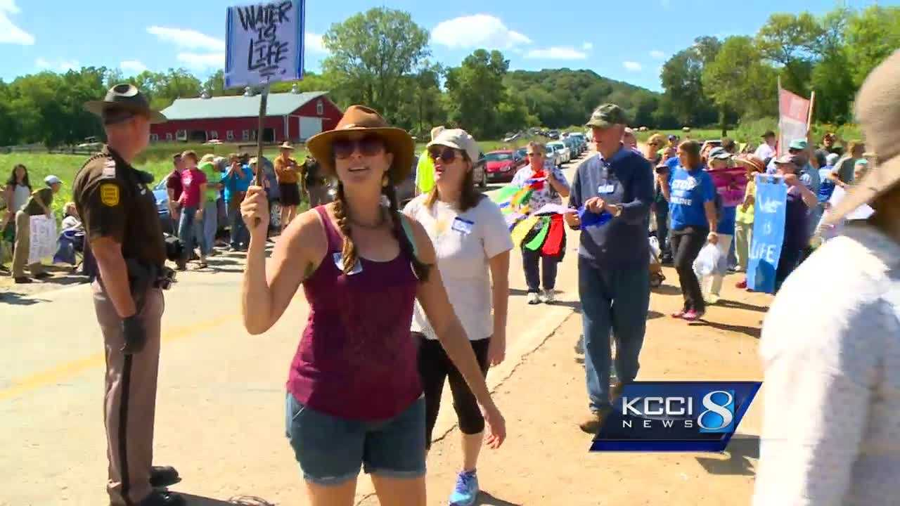 Peaceful protesters say they're protecting future generations.