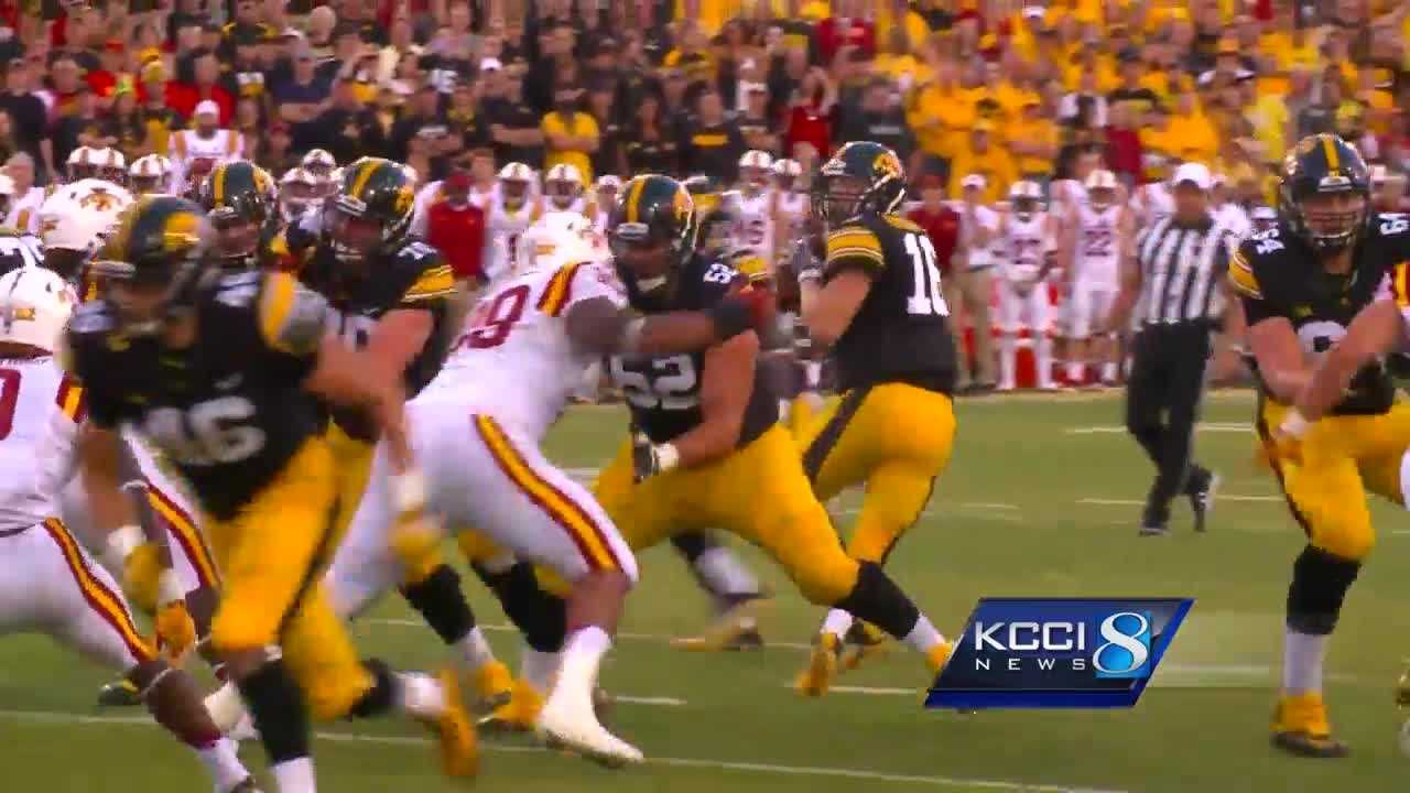 The 2-0 Iowa Hawkeyes and 0-2 Iowa State Cyclones are headed in different directions after the Cyclones took a beating in Iowa City.