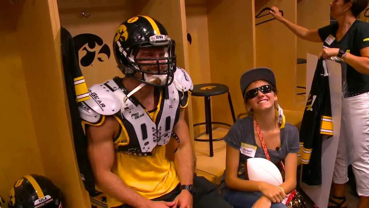 KCCI's Eric Hanson takes us in, under and around Kinnick Stadium with some kids who scored a well-deserved all-access pass.