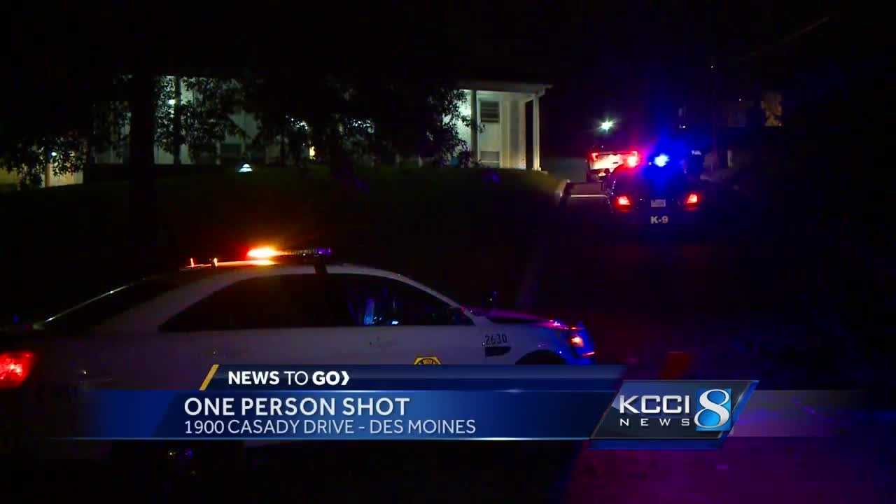 One person was injured Tuesday in a shooting in Des Moines, police said.