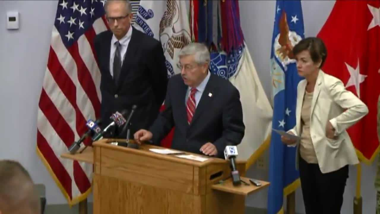 Governor Terry Branstad address growing concerns regarding flooding in Iowa.