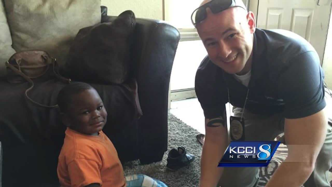 A few Johnston police officers went above and beyond the call of duty this week for one little boy.