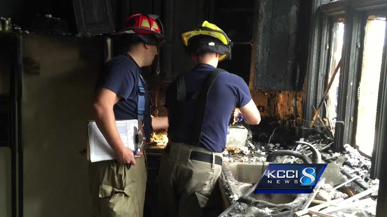 The Ankeny Fire Department began training on a donated house Friday.