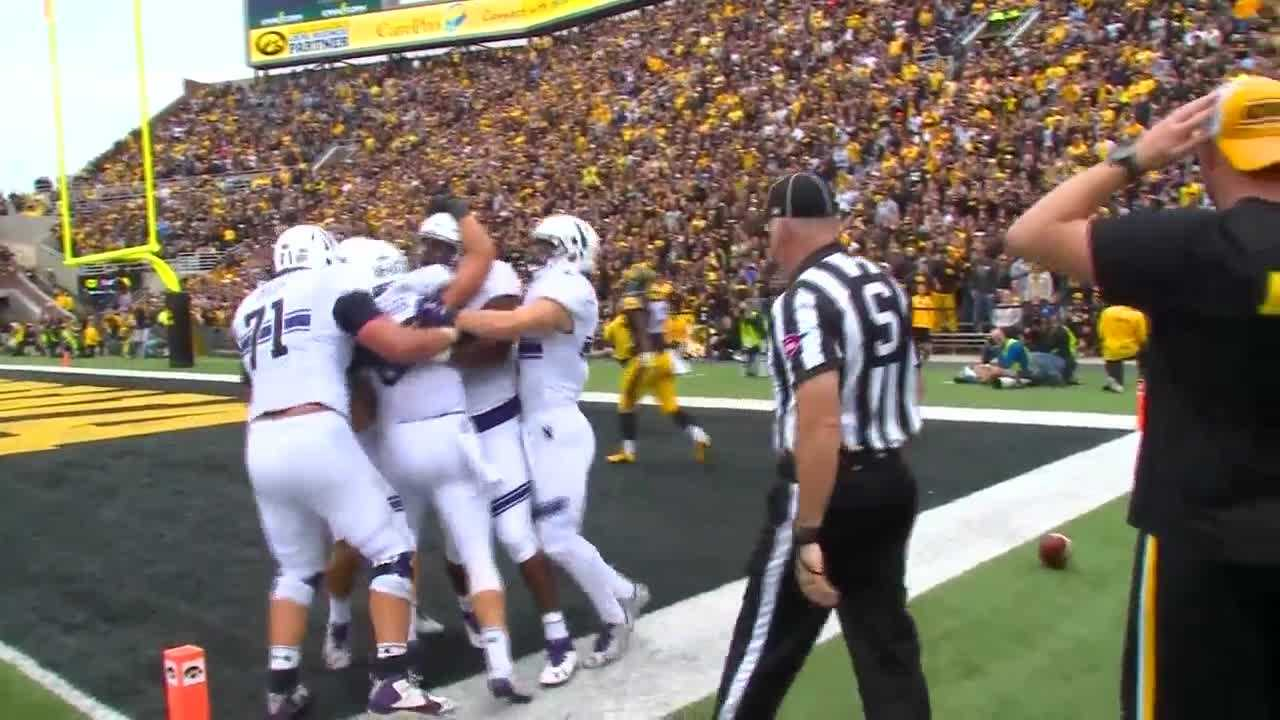 Northwestern upsets Iowa 38-31