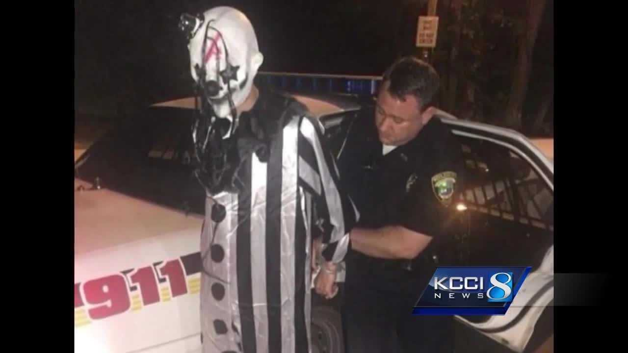 Two metro police departments said there has been at least one report of a creepy clown sighting.