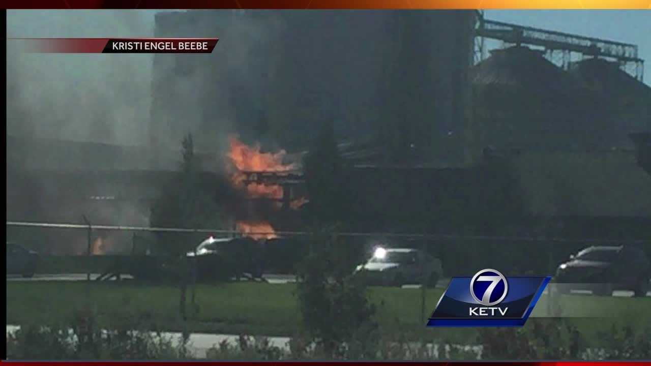 A fire breaks out at an ethanol plant in Council Bluffs.