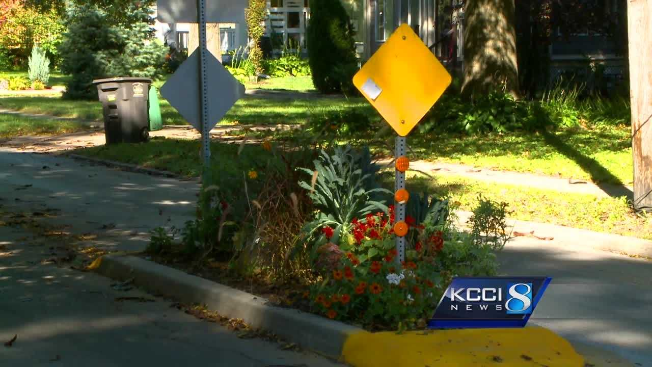 The city of Des Moines installed several small medians in the middle of 42nd Street in 2010 to get drivers to slow down.