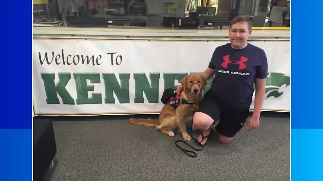 Cedar Rapids teen's service dog battles rare disease