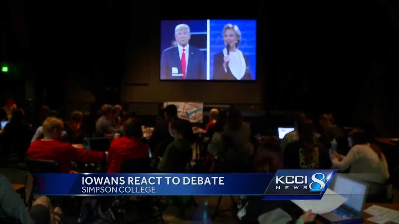 While the atmosphere was mostly calm and respectful, at moments there were cheers and boos throughout the debate.
