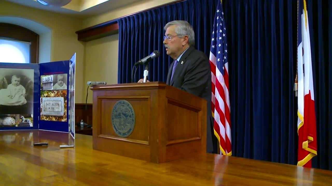 Branstad said he will focus on the issues instead of personal attacks.