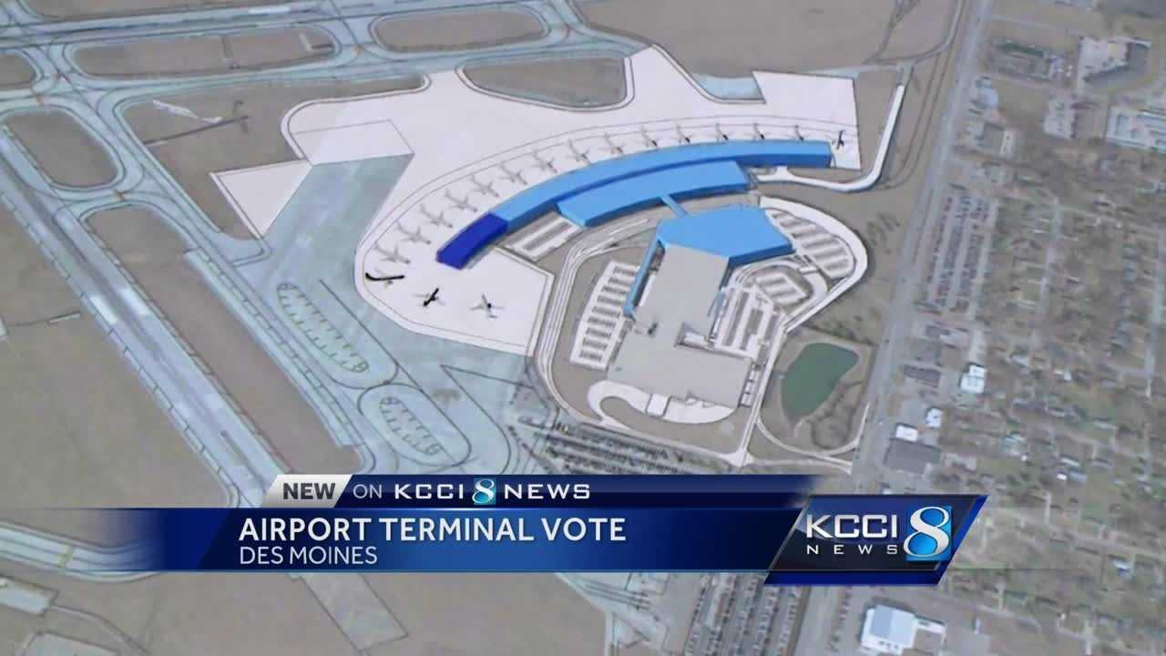 The Des Moines Airport Authority board will vote Tuesday on building a new airport terminal.