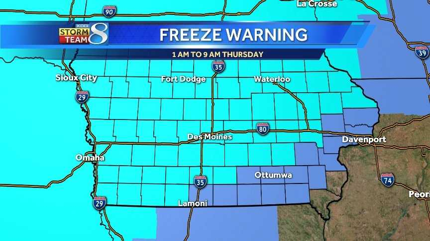 Freeze Warning graph