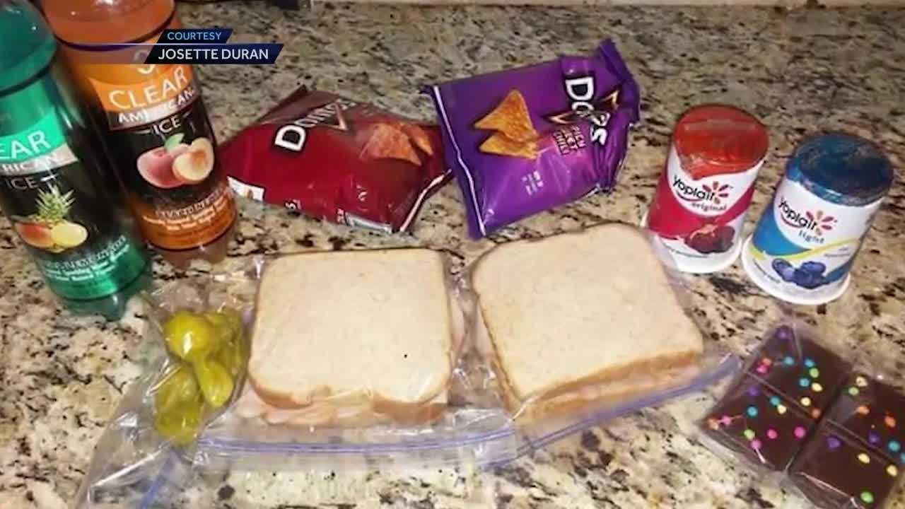 She packed an extra lunch for her son's friend for weeks.