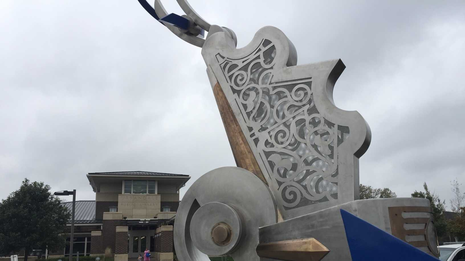 New Urbandale sculpture at the library.jpg