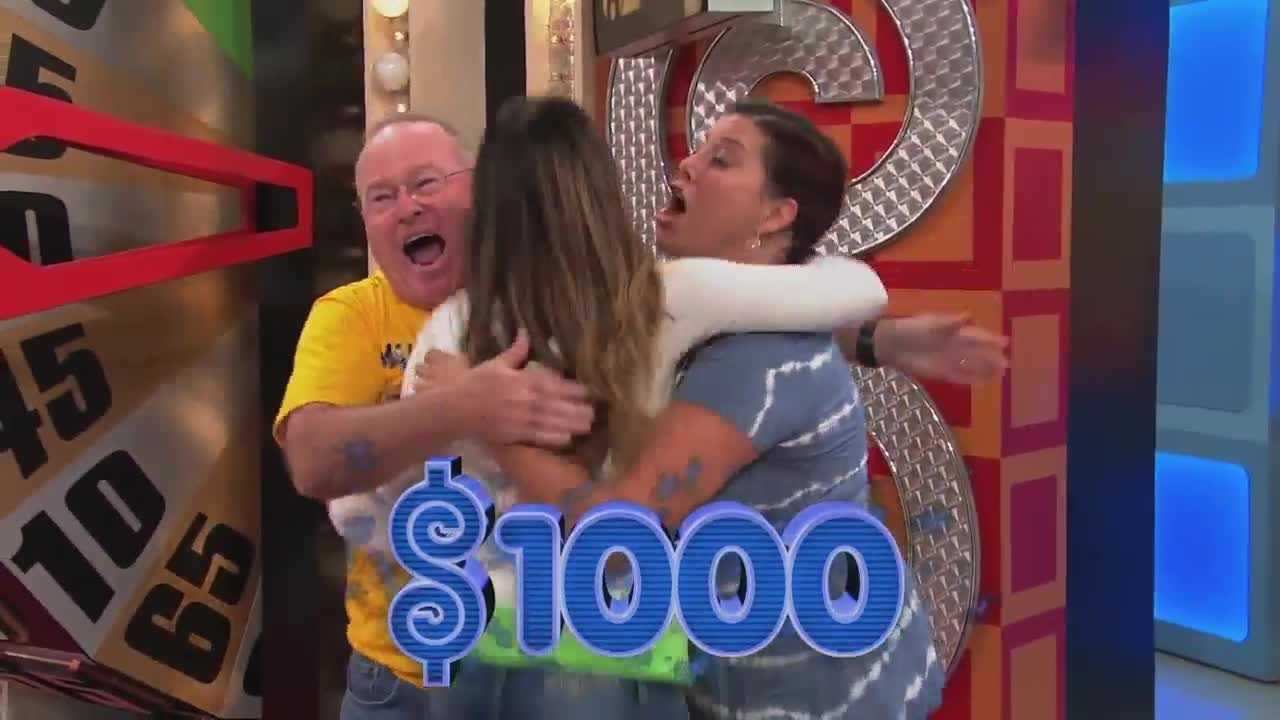 Everyone lost their minds when contestants had a 3-way tie when spinning the Big Wheel on the Price is Right.
