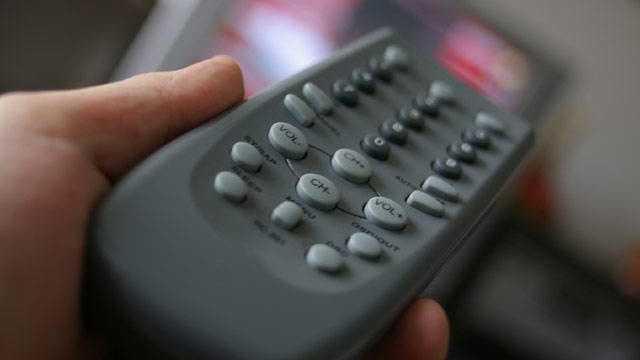 TV remote, television