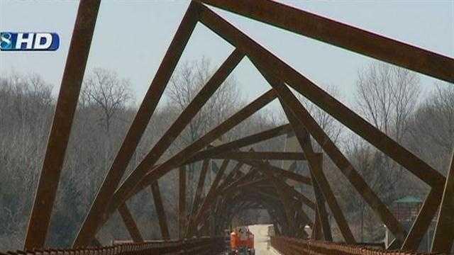 13 Story Tall High Trestle Trail bridge