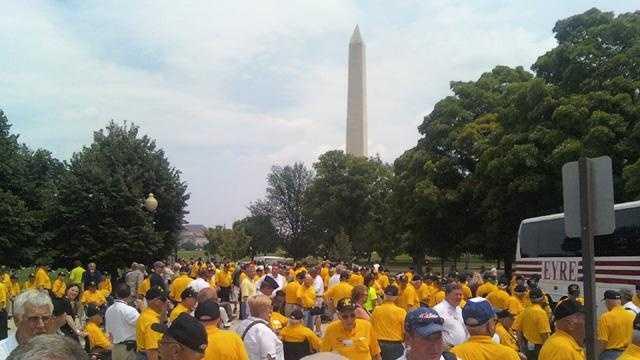 August 11, 2009, Honor Flight in Washington, D.C.