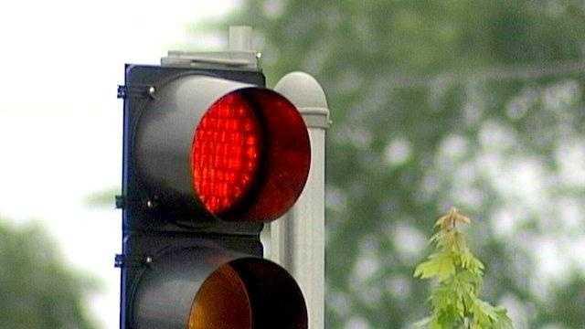 Stop light cu traffic - 16919548