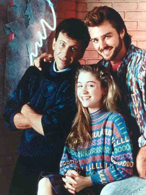 """Michael Taylor (Paul Reiser) and Joey Harris (Greg Evigan) from """"My Two Dads"""""""