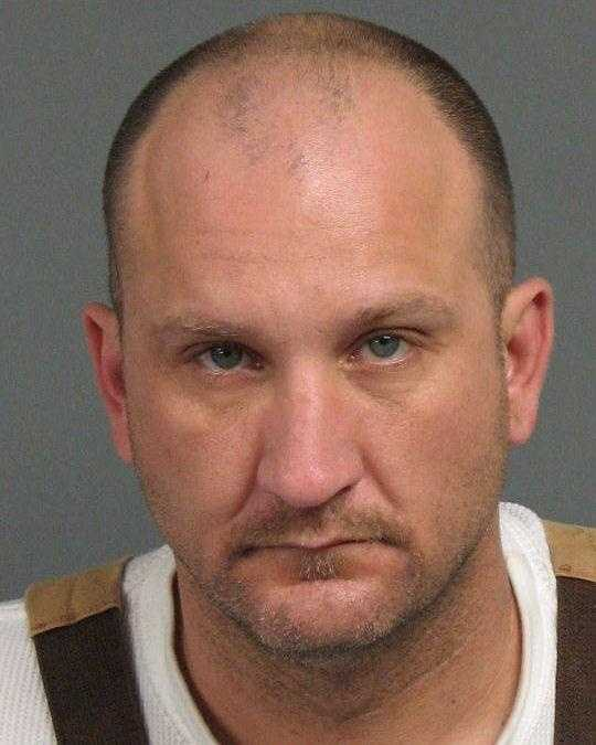 George Beesley, 42, was arrested in connection with a bank robbery in Tracy.