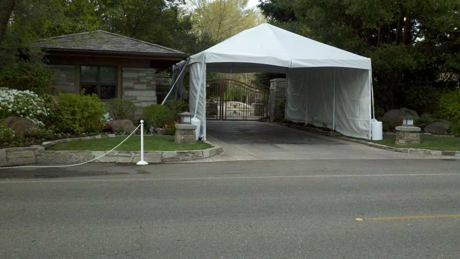 The home of businessman Alex Spanos, where the Mitt Romney event will be held.