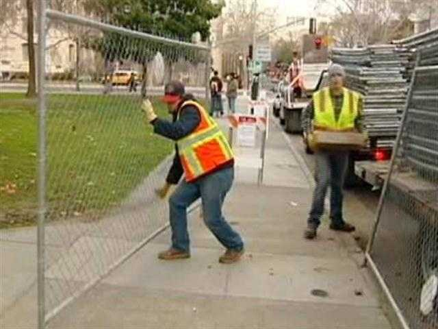 Work has begun on a makeover for Cesar Chavez Plaza in downtown Sacramento, with its million dollar price tag paid by a private developer.