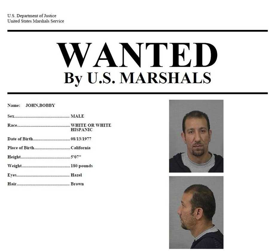 Bobby John: John is wanted for burglary and is considered armed and dangerous, according to U.S. Marshals. Anyone with knowledge of his whereabouts should call 916-930-2030.