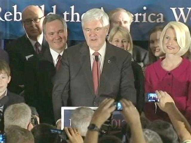 Exit polls show conservative and religious voters strongly supported Gingrich in South Carolina.