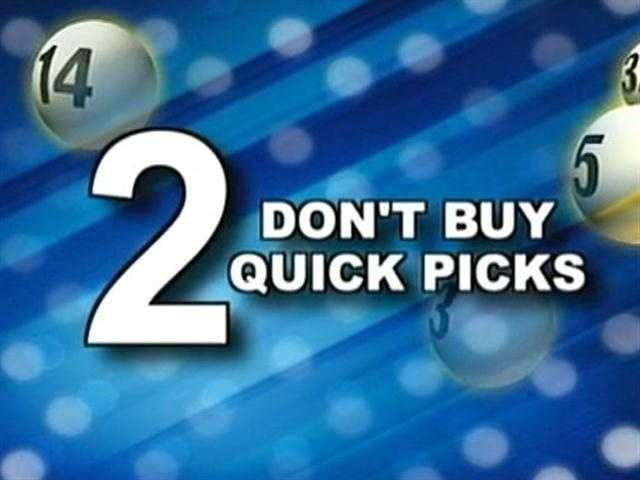 "2. Don't buy ""quick pick."""