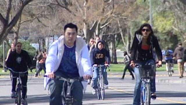 Davis bicyclists - 18917684