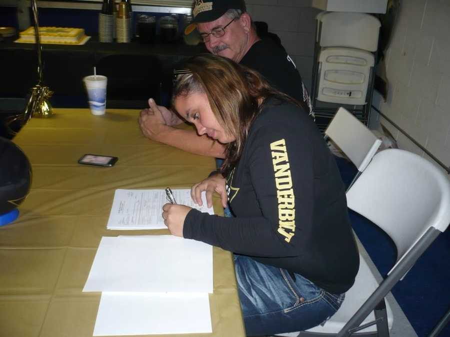 Amanda Fry of Antelope High School signed in November, which is the early period for her sport: bowling. She will attend Vanderbilt University in the fall.
