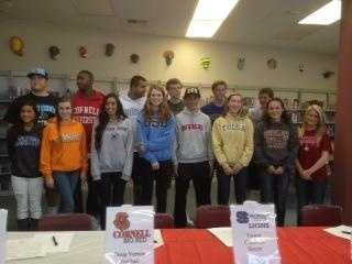 At Folsom High School, 14 student-athletes committed to colleges as close as CSU Chico, and as far away as Cornell University.