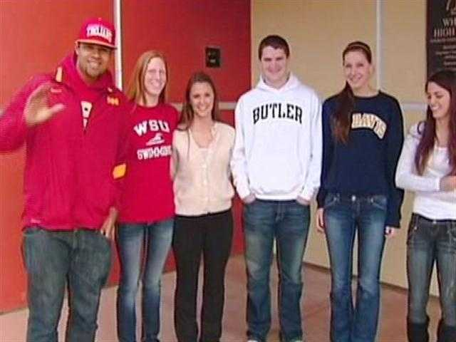 Six students from Whitney High School signed letters of intent on February 1, 2012.