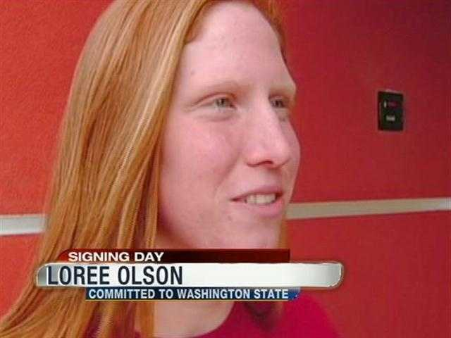 Loree Olson from Whitney H.S. will swim for Washington State University.