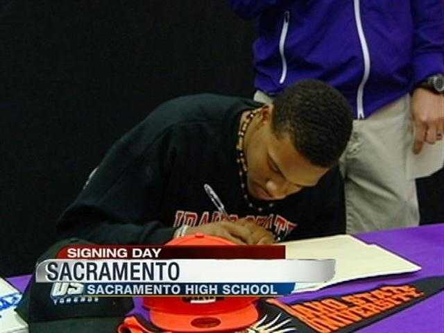 Devin Benjamin from Sacramento High School committed to play football at Idaho State University.