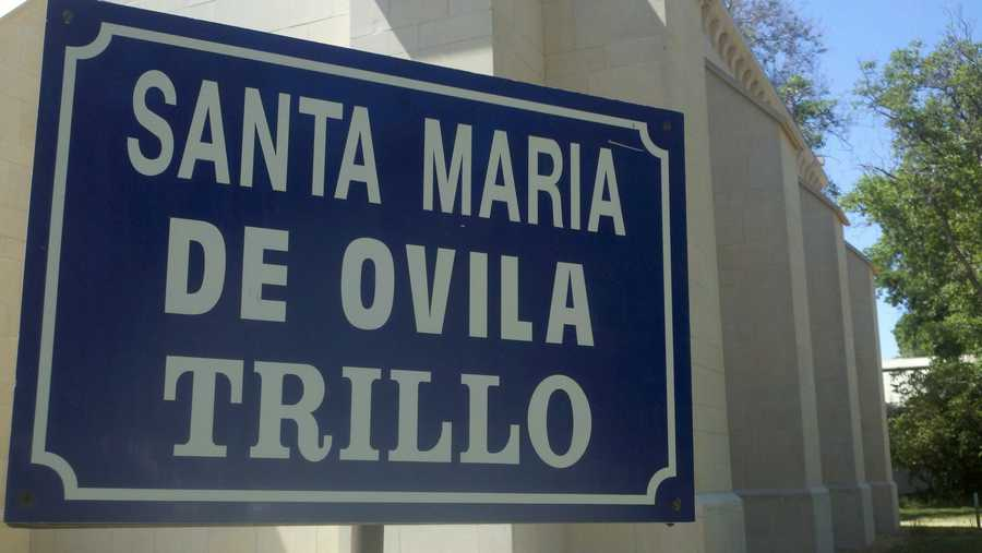 A sign from the original monastery in Spain.