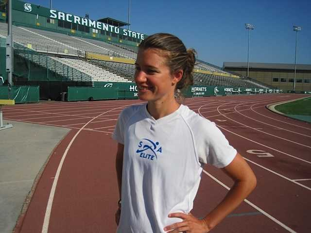 Kim is also a member of the Sacramento Running Association's elite team which pays her a small stipend to fund her Olympic dream.