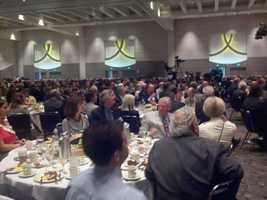 Members of the California Chamber of Commerce hear Governor Brown's tax-hike proposal.