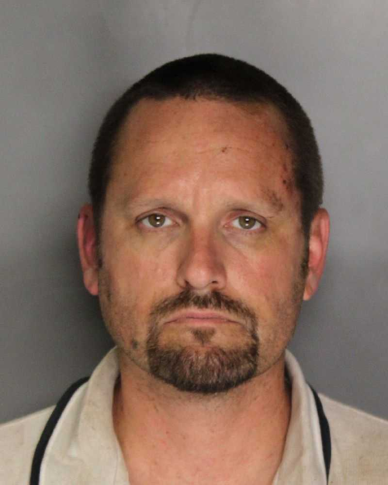 Robert Bain, 41, was arrested on suspicion of taking CHP officers on a chase in a stolen vehicle.
