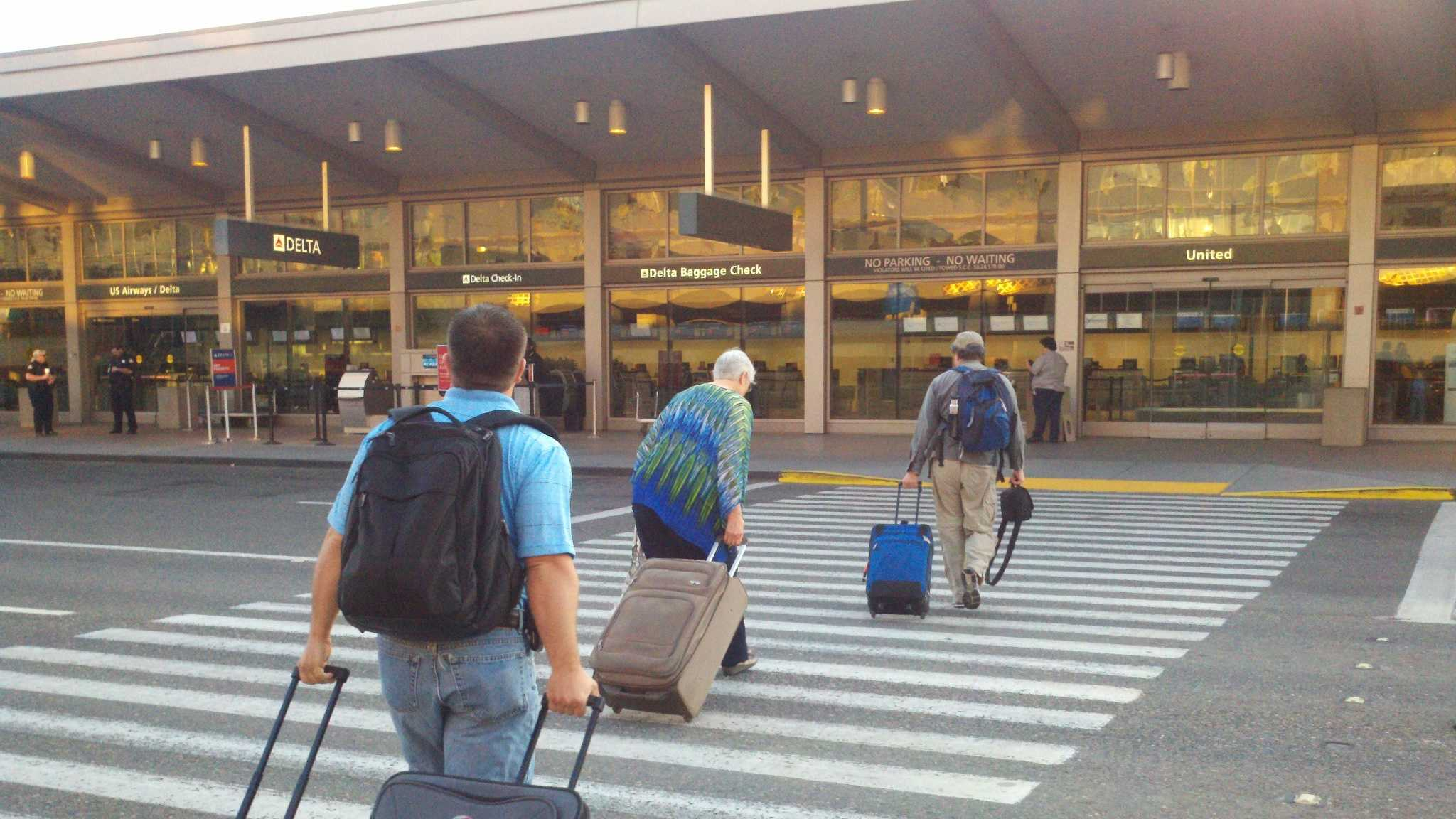 Travelers flocked to the Sacramento International Airport on Thursday, in advance of Memorial Day Weekend.