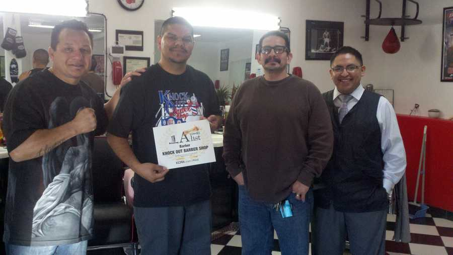 Knock Out Barber Shop on Del Paso Boulevard took top honors in the Best Barber category on the KCRA 3 A-List. Reporter Leticia Ordaz showed viewers around on Thursday morning.