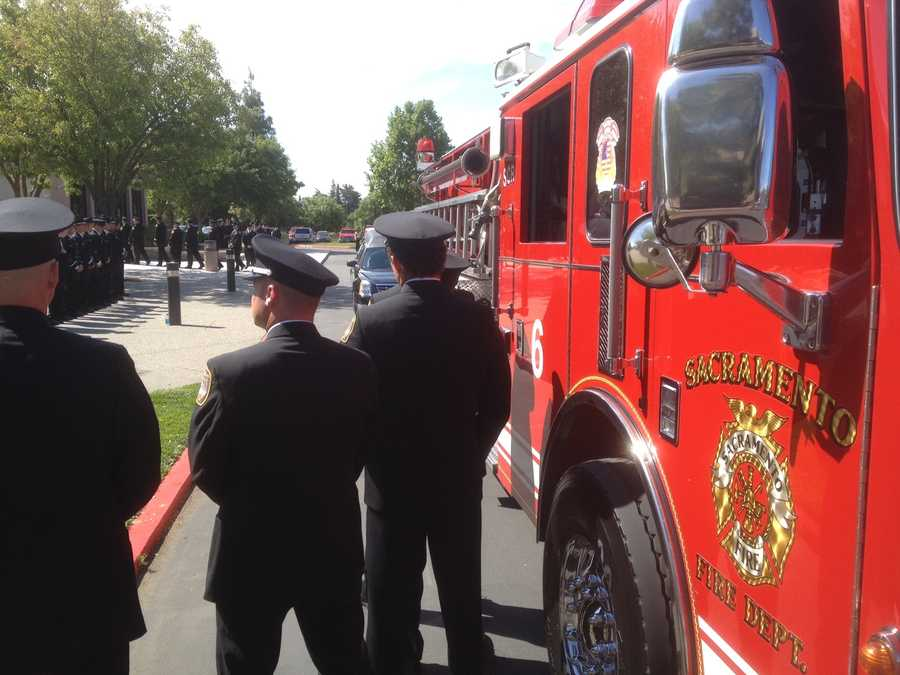 Community members mourn the loss of a community servant who helped fight fires with one of the busiest stations in Sacramento on Friday.