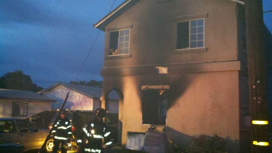 West Sacramento fire officials said two families are lucky they were alerted to a blaze by smoke detectors at 4 a.m. Friday, and got out of the duplex without serious injuries.
