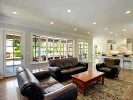 Large windows accent the living area. Come back to KCRA.com for each Monday for more Mansion Monday photos.