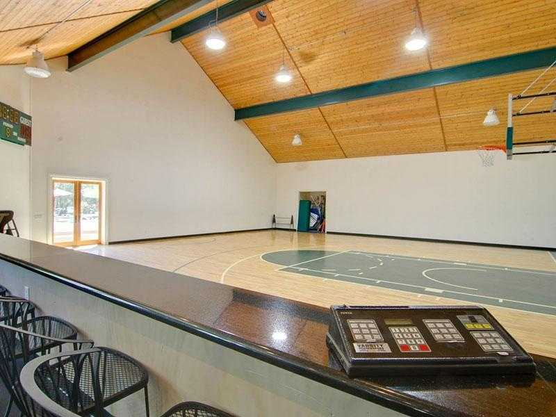 In addition, the home has a 4,000 square-foot indoor basketball court and gym.