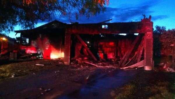 A home was destroyed by an early morning blaze in Rancho Cordova.