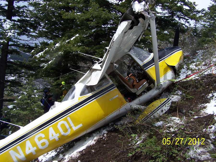 Cosumnes Fire Department Captain Brian Brown was flying this private plane when it crashed into a mountain near Mountain Home, Idaho on Sunday.