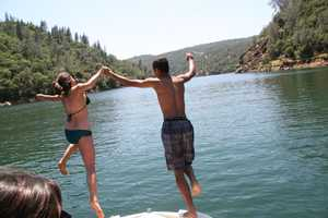 Lake Englebright, near Grass Valley, was busy this Memorial Day weekend.
